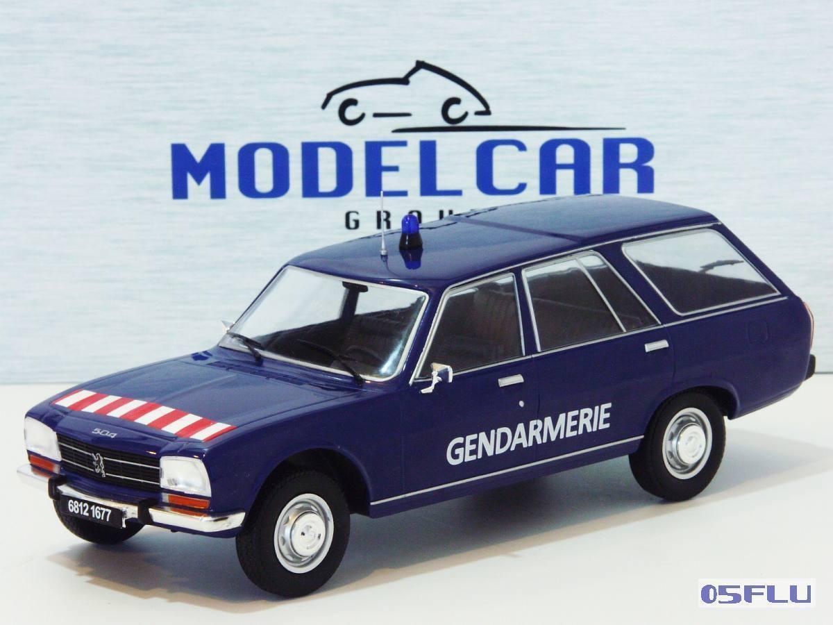 MDG MDG18036 - Peugeot 504 Break Gendarmerie - 1976   1 18