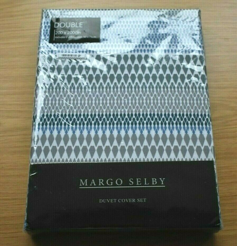 MARGO SELBY ROSINI DOUBLE DUVET COVER SET 100% COTTON 200 TC BRAND NEW