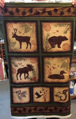 Timber Lodge flannel panel #12616
