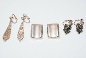 Pair of vintage sterling silver earrings