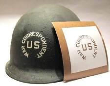 War Correspondent Helmet Stencil Template USA Army WW2 US WWII M1 M2 M1C Decal
