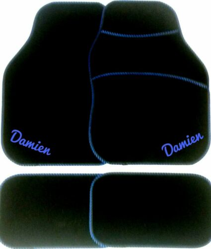 Personalised Car Mats ANY TEXT EMBROIDERED Mum Dad Parents Wife gift Husband Bro