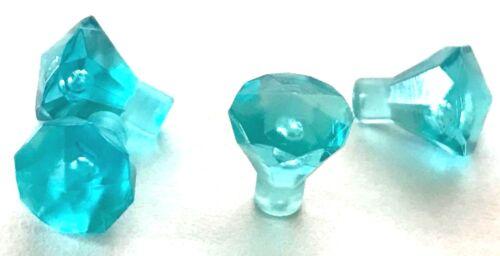 *NEW* 100 Pieces Lego Gem Jewel Rock 1x1 TRANS LIGHT BLUE 30153