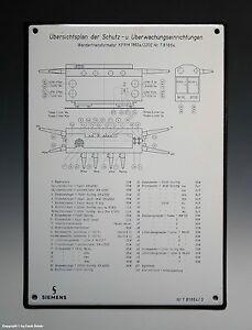 Emailschild-SIEMENS-Ubersichtsplan-wohl-um-1955-1960