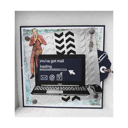 Marianne Design Collectables découpe dies /& clear Stamps-col1372 ordinateur portable