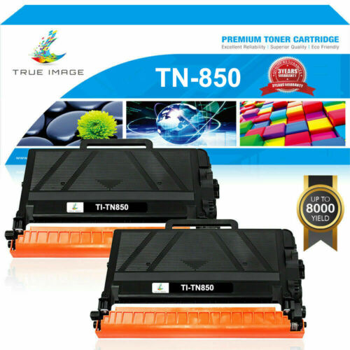 2PACK TN850 TN-850 Black High Yield Toner Cartridge TN820 For Brother 8000 Pages