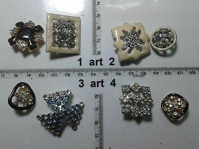 1 Lotto Bottoni Gioiello Strass Smalti Perle Vetro Buttons Boutons Vintage G13 Facile E Semplice Da Gestire