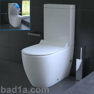 stand dusch wc mit taharet bidet toilette inkl sp lkasten geberit sp lgarnitur ebay. Black Bedroom Furniture Sets. Home Design Ideas
