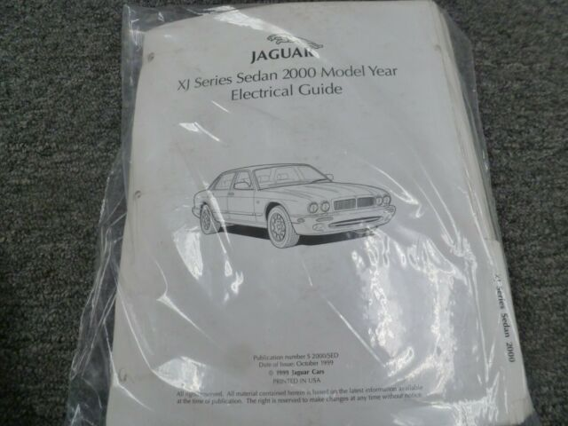 2000 Jaguar Xj Xj8 Xj8l Sedan Electrical Wiring Diagrams