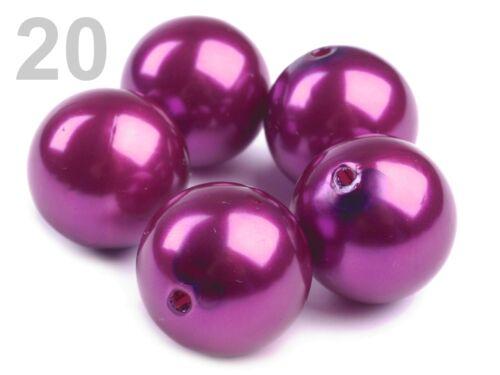 5 oder 20 Wachsperlen Perlen 20mm  Ketten Streudeko Hochzeit Kommunion Tischdek0