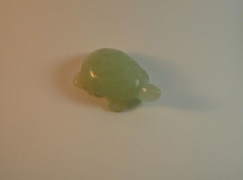 Jade Turtle Light Green Delicately HandCarved