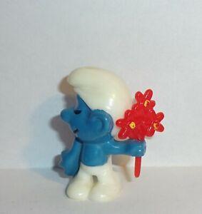 SCHÜCHTERNER SCHLUMPF mit Blumenstrauß E.D.D.S. Schlümpfe ORIGINAL
