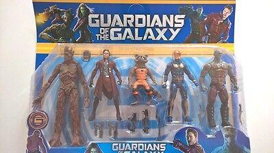 Guardians of the Galaxy Action Figures Star-Lord Groot Rocket-Raccoon Drax Nova