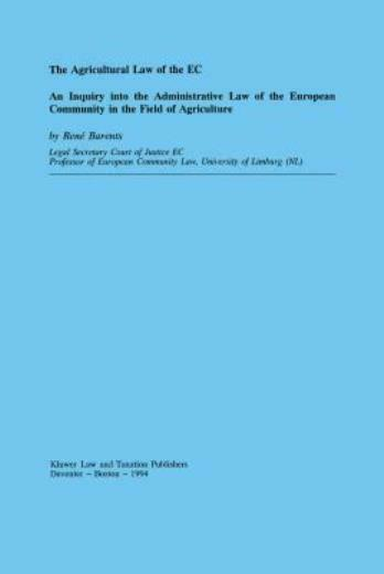 Agricultural Law Of The Ec