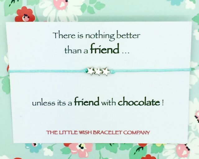Friends Funny Humour Wish Bracelet & Card Gift Best True Friendship Choice Cards