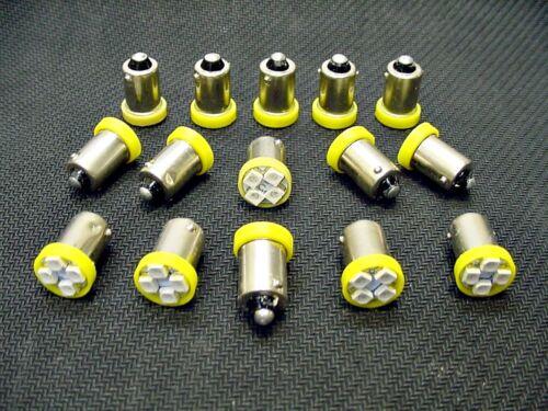 15 BRIGHT Amber LED Instrument Panel Dashboard Light Bulbs BA9S 57 1895 AMC GMC