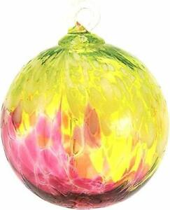 Glass-Eye-Studio-BELLINA-ORCHID-Hand-Blown-Art-Glass-Round-Christmas-Ornament