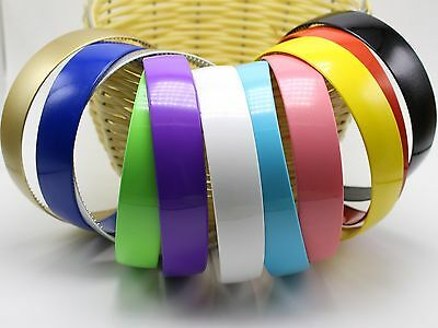 """5 Mixed Color Plastic Wide Alice Hair Band Headband 25mm(1"""") Hair Accessories"""