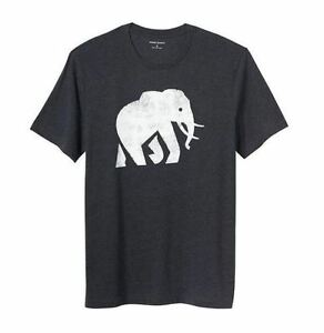 Banana-Republic-Men-039-s-Short-Sleeve-Graphic-T-Shirts-Navy-Elephant-S-M-L-XL-NEW