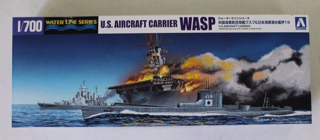 Aoshima USS Wasp CV-7 w  I-19 in 1 700 10303 ST