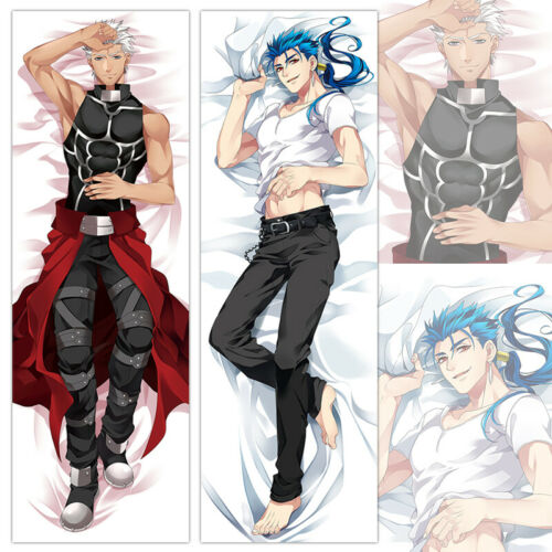Anime Fate//Grand Order Emiya /& Cu Chulainn Dakimakura Hugging Body Pillow Case