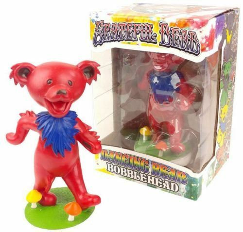 Grateful Dead Red Dancing Bear Kollectico Bobblehead Bobble Figure NIB