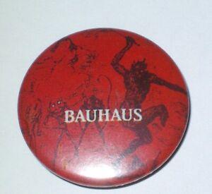 Bauhaus-Badge-Button-Musique-Rock-gothique-britannique-Annee-80-Vintage