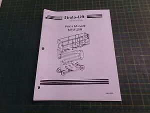 genuine strato lift parts pmv 0699 mrx 25n parts manual pmv0699 rh ebay com strato lift parts manual Strato Lift Inspection Forms