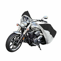 Black/Silver Motorcycle Waterproof Outdoor Motorbike Rain Bike Cover Large XXL