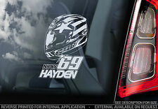 Nicky Hayden - Car Window Sticker - Superbike MotoGP HELMET 69 Decal Sign - V04