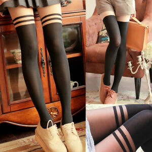 e05c4d38873 Details about New Women Sexy Cable Over Knee Thigh High Stocking Knit Extra  Long Boot Socks