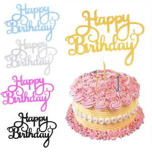 10-pcs-Glitter-Paper-Happy-Birthday-Cake-Topper-Cupcake-Dessert-Decor-Supplies