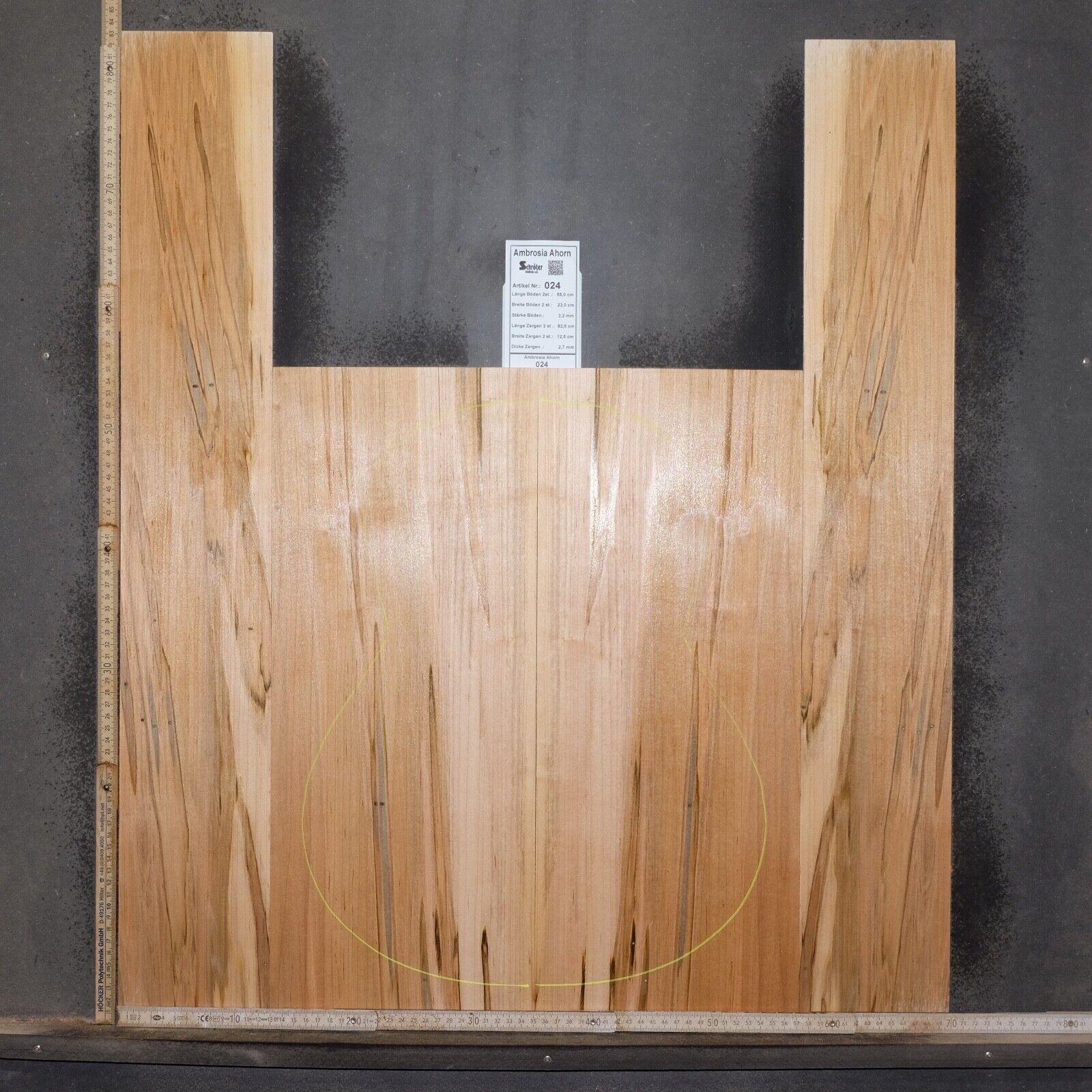 nelle promozioni dello stadio Tonewood Ambrosia Acero Acero Acero Maple figured Tonholz Guitar Acoustic backs & sides 024  profitto zero