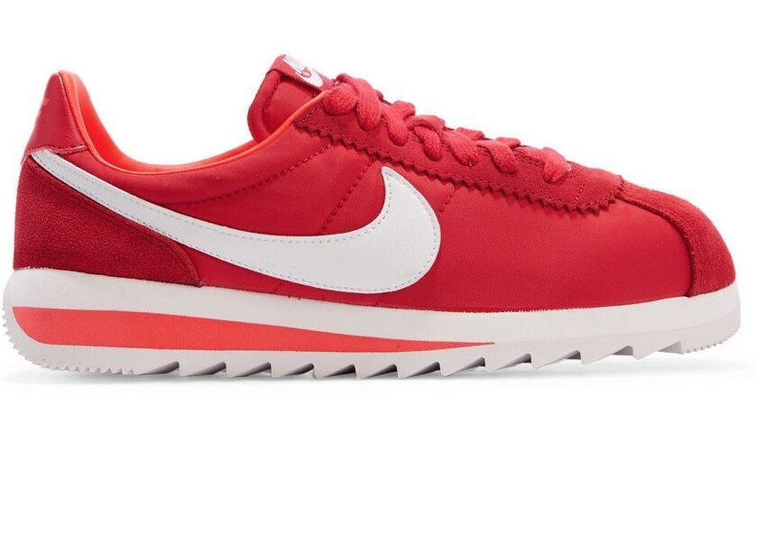 NIKE NIKE NIKE Cortez Epic Premium Canvas & Suede rosso & bianca scarpe da ginnastica NIB  U.S 11, 241182