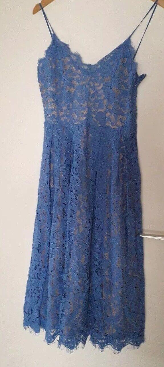 Neu H&M Spitzenkleid blau Gr. 38 traumhaft schön♡
