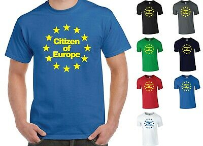 B YES EUROPE T-SHIRT PRO EURO REFERENDUM ROYAL BLUE BRITAIN STAY EU CAMPAIGN