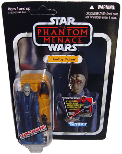 STAR WARS Collection Vintage Daultay Dofine Action Figure VC82 Comme neuf on Card TPM 2012 jouet