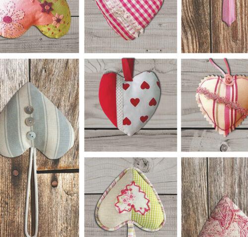 Toile Cirée Nappe Lavable coeur bois Love rectangulaire environ ovale c145341