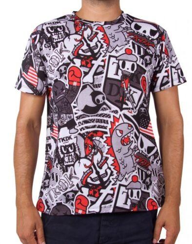 NEW Official Tokidoki TKDK Stacked Men/'s Grey Tee T-Shirt CMTE04189 US Seller