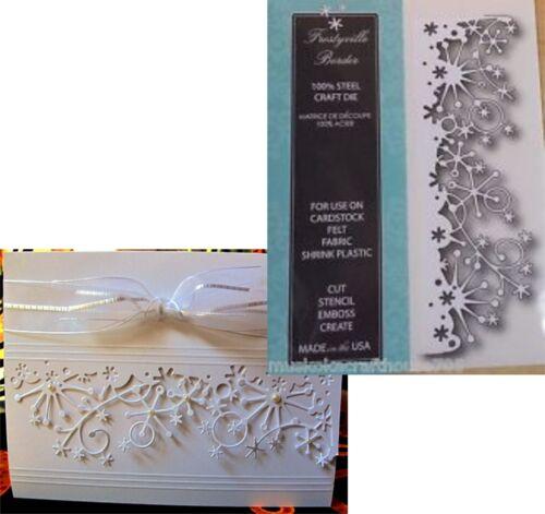 Christmas Snowflake metal die Frostyville Border Memory Box dies 98146 Holidays