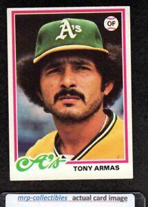 1978 Topps #298 Tony Armas Oakland Athletics Baseball Card EX/MT