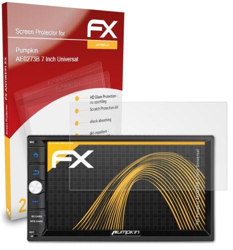 atFoliX 2x Schutzfolie für Pumpkin AE0273B 7 Inch Universal matt/&stoßfest