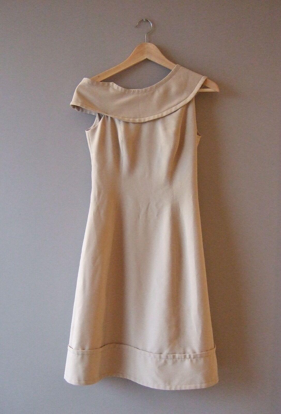 Gorgeous Designer Adolfo Dominguez Beige Dress Size EU36 UK8 RRP 320