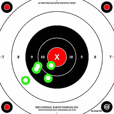 RC SHB8C SEE-HIT Fracturing 25-Yard Rapid Fire Pistol Targets 24 SH-B-8C RC