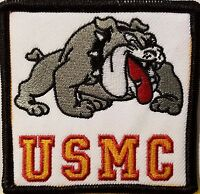 Usmc Emblem Iron-on Patch Devil Dog Emblem Black Border