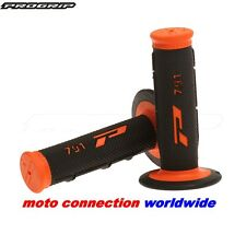 PRO GRIP 791 MX HANDLEBAR GRIPS BLACK / ORANGE for KTM 125 XCW 150 XCW 250 EXC