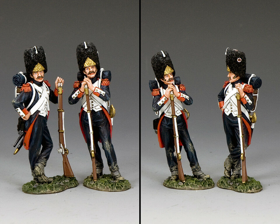 KING AND COUNTRY NAPOLEONIC Guardsmen-At-Ease NA400