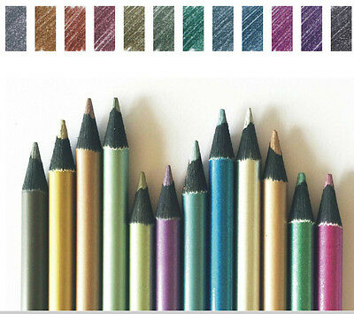 Black Wood Metallic Colored Drawing Pencils  12 Colors Sketching  Drawing