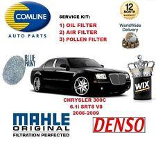 FOR CHRYSLER 300 C 6.1 SRT8 V8 2006-2009 OIL AIR POLLEN FILTER SERVICE KIT