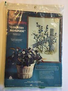 Vintage Paragon Needlecraft Country Roadside Creative Stitchery Stamped Craft Kit